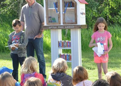 Builder of the Blackfalds Little Library