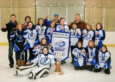 Provincial Ringette Champs: Coached by Terry